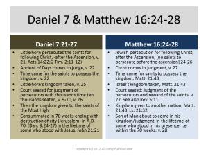Kingdom Daniel 7 and Matthew 16:24-28
