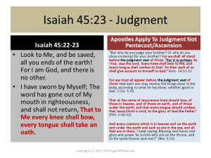 Kingdom Judgment in Isaiah 45:23 and Revelation 5:13
