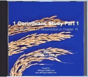 First Corinthians Framework For Resurrection