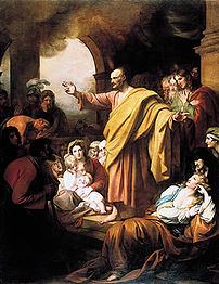Saint Peter Preaching at Pentecost, painting b...